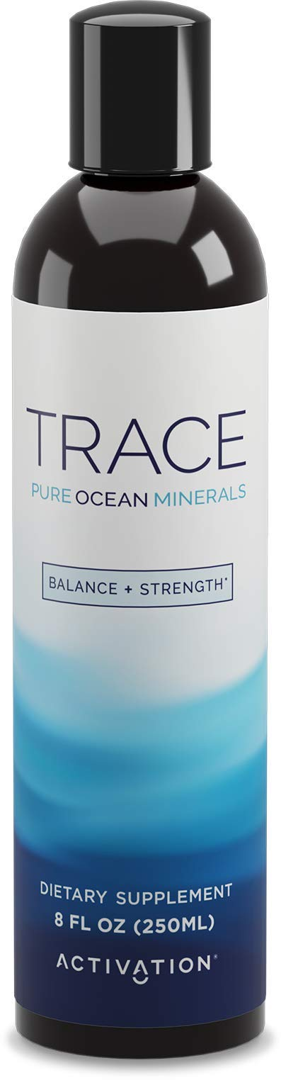 Activation Products Trace Minerals Supplement - Liquid Trace Minerals for Water - Ionic Mineral Drops for Drinking Water - Essential Sea Minerals for Improved Health, 8 Fl. Ounces