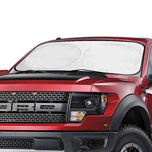 Aomaso SUV Windshield Sun Shade 63*34inch Auto Car Front Rear Window Foldable Visor Large Sunshade UV Protector Block Cover
