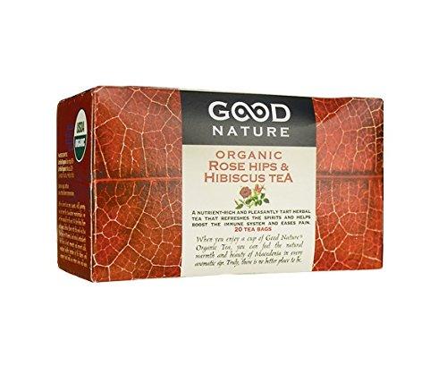 Good Nature Organic Rose Hips & Hibiscus Tea,  1.8 Ounce