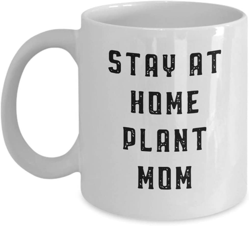 Florist Coffee Mug - Stay At Home Plant Mom Cup - Funny Gardening Gifts For Men Women