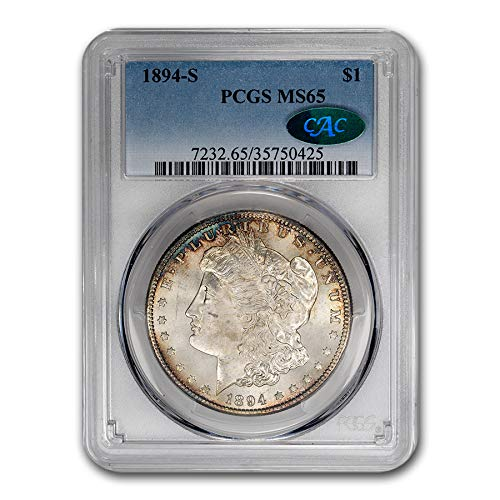 1894 S Morgan Dollar MS-65 PCGS CAC $1 MS-65 PCGS