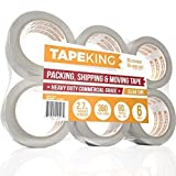 Tape King Clear Packing Tape - 60 Yards Per Roll (6 Refill Rolls) - 2 Inch Wide Stronger 2.7mil, Heavy Duty Sealing Adhesive Industrial Depot Tapes for Moving Packaging Shipping, Office & Storage: more info