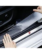 2 Pcs Car Door Entry Edge Guard, Scratch Cover Sill Protector 5D Carbon Fiber Car Wrap Film Automotive Single Adhesive Anti-Collision Film Cars Accessories
