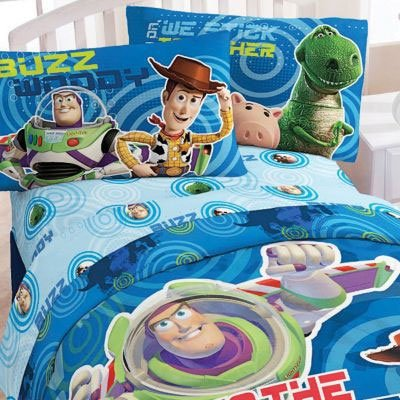 toy story circles bedding set 4pc disney buzz lightyear comforter sheets twin bed amazon co uk - Toy Story Toddler Sheets