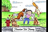 Personalized Friendly Folks Cartoon Side Slide Frame Gift: Dog Lover - Female Great for animal rescue, pet sitter, dog walker