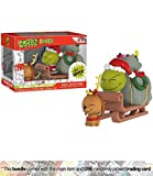 Funko The Grinch & Max with Sleign Dorbz Ridez x Dr. Seuss Vinyl Figure + 1 American Cartoon Themed Trading Card Bundle (21758)