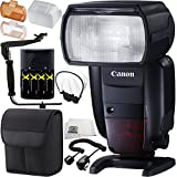 Canon Speedlite 600EX II-RT 13PC Accessory Kit (International Version, No Warranty) - Includes Manufacturer Accessories + 4 AA Batteries with Charger + 180° Rotating Flash Bracket + MORE