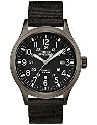 Timex #TW4B06900 Mens Expedition Scout Military Indiglo Slip-Thru Band Watch