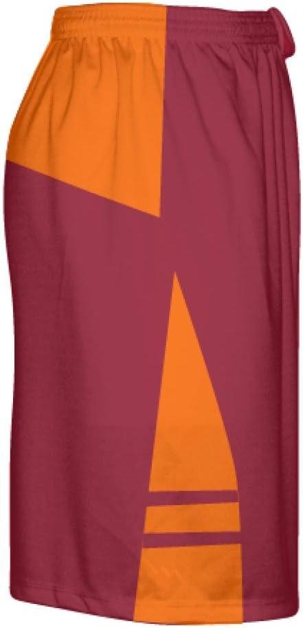 LightningWear Cardinal Red Orange OG Lacrosse Shorts Mens Boy Lacrosse Shorts