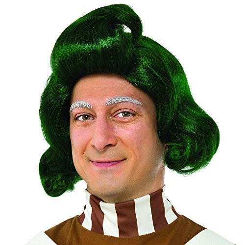[Rubie's Costume Co. Men's Willy Wonka and the Chocolate Factory Oompa Loompa Wig, As Shown, One] (Willy Wonka Costume)