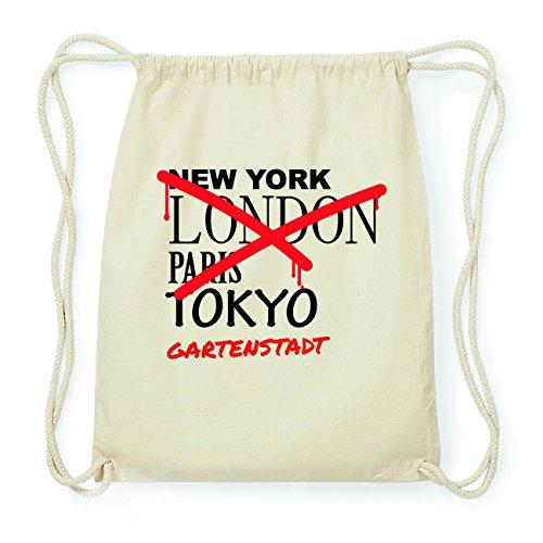 JOllify GARTENSTADT Hipster Turnbeutel Tasche Rucksack aus Baumwolle - Farbe: natur Design: Grafitti