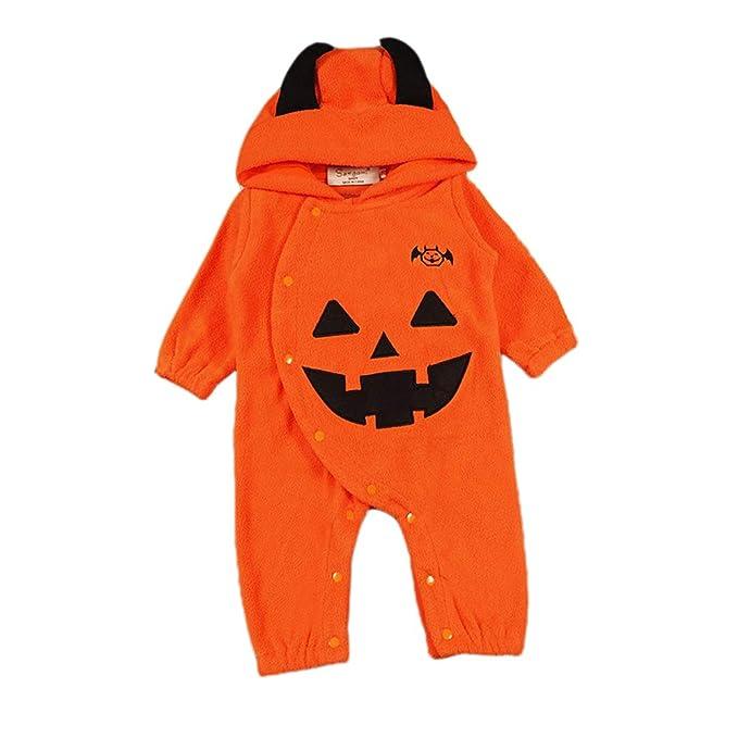 Hellomiko Mono de Halloween para niños Niño y niña Pijamas cálidos Calabaza de Halloween Diamante Haber
