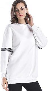 Moda Autunno E Inverno Abbigliamento Donna Morbido Comodo Traspirante Plus Velluto Addensare Felpa Grande Taglia Donna Sezione Media E Lunga T-Shirt Manica Lunga T-Shirt Ampia Bianco Blu Nero