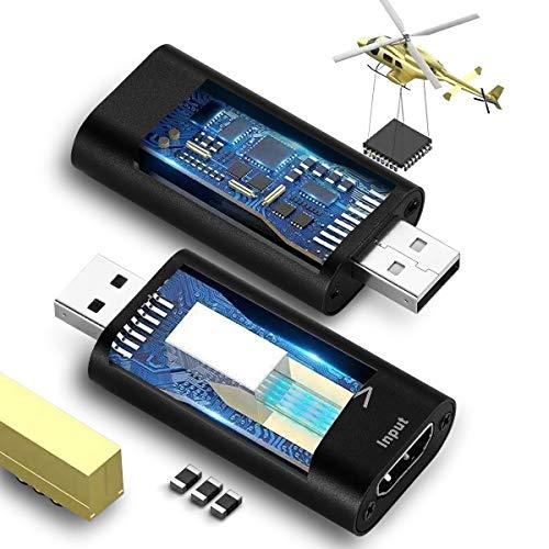 FURUI HDMI Video Capture Card, Video Capture Card HDMI to USB2.0 1080P Record via DSLR Camcorder Compatible with VLC/OBS/Amcap