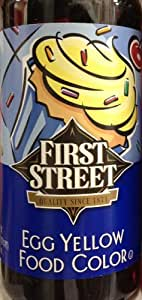 Amazon.com : 16oz Egg Yellow Food Color by First Street : Grocery ...