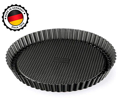Kaiser 12 inch Nonstick Tart Pan - Pie Pan, Quiche Pan Baking Supplies, Easy Clean Professional Bakeware