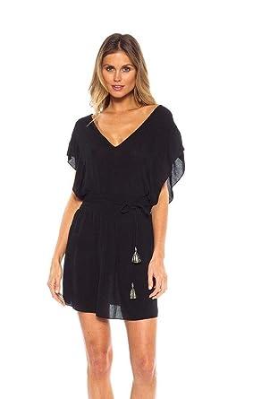 5e3933f620835 Becca by Rebecca Virtue Women's Polermo Tunic Cover-Up Black X-Small/Small