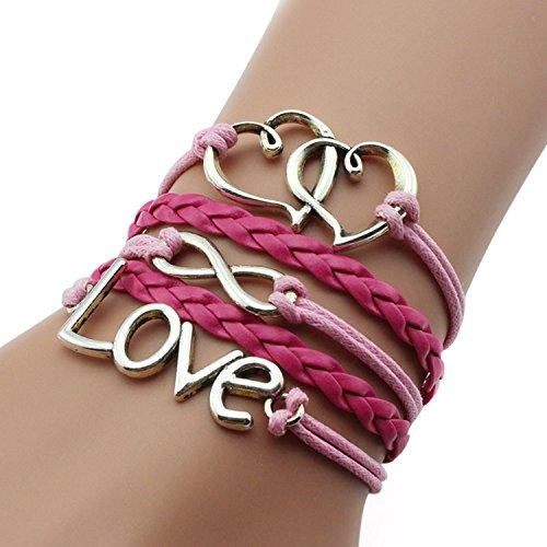leather multilayer bracelet i trendy leather wrap charm