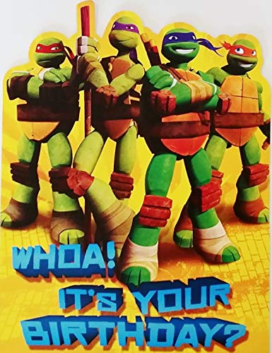 Teenage Mutant Ninja Turtles - Happy Birthday Greeting Card - Awesomeness! Hope it Rules! TMNT -