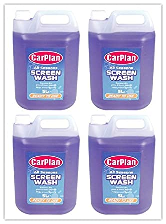 Líquido limpiaparabrisas, pack de 4 unidades, listo para usar, bidones de 5 litros (20 litros en total): Amazon.es: Coche y moto