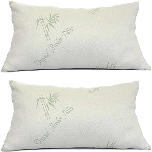 Bamboo-Pillows-for-Sleeping-Set-of-2-Standard-Queen-Size-Adjustable-Loft-Cool-Shredded-Memory-Foam-Bed-Pillow-Cooling-Hypoallergenic-Luxury-Cover-Comfort-for-Back-Side-and-Stomach-Sleeper-2