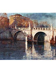 Angel's Bridge on the Tiber-Rome