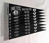 Rico NBA Nets Brooklyn 8 Pc Mini Pennant Pack Sports Fan Home Decor, Multicolor, One Size