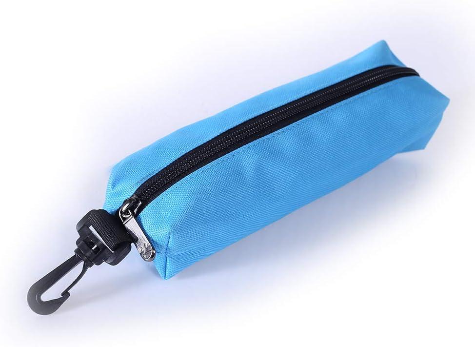 DeNOA Knitting and Sewing Yarn Drum Holder Azure Blue Solid Design Needle Storage Organizer