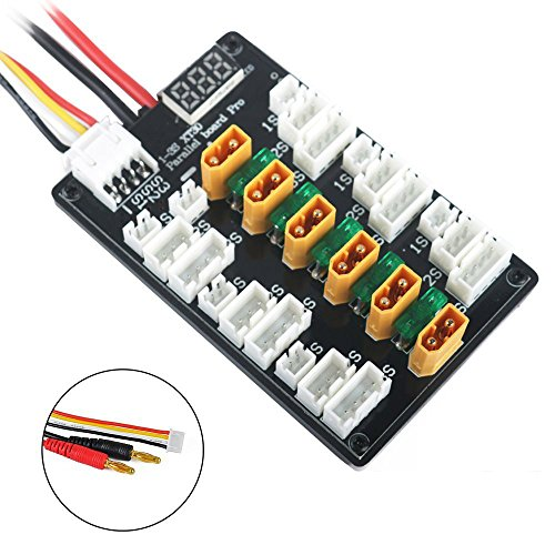 Upgraded XT30 Parallel Charging Board for 1S 2S 3S LiPo Batteries Compatible with XT30 JST JST-PH 2.0 Connector LiPo Batteries