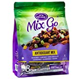 MIX & GO 2 PACK Single Serve Trail Mix Snack Packs, Healthy Snack Bag, Antioxidant Fruit & Nut (contains 16 packs of 2 oz. bags) For Sale
