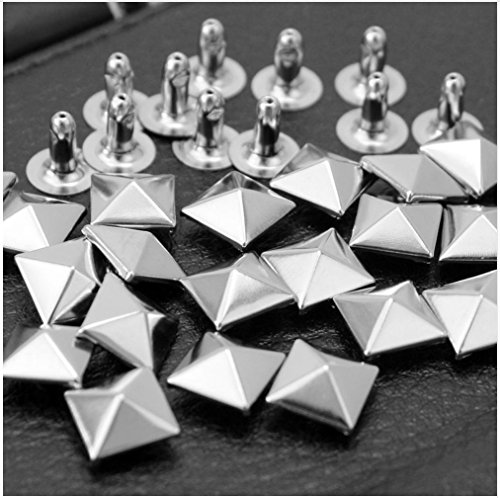 ARTS AND CRAFTS SUPPLIES 50pcs 8mm Nickel Pyramid Rivet Rapid Rivets Studs Conical Shoes Decoration RV418