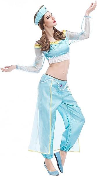 xiemushop Disfraz de Princesa Arabe para Mujer Cosplay Halloween ...