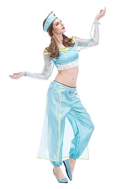 Disfraz de Princesa Arabe Para Mujer Cosplay Halloween Carnaval Traje de la  Danza Vientre  Amazon.es  Ropa y accesorios 00d8c6670da