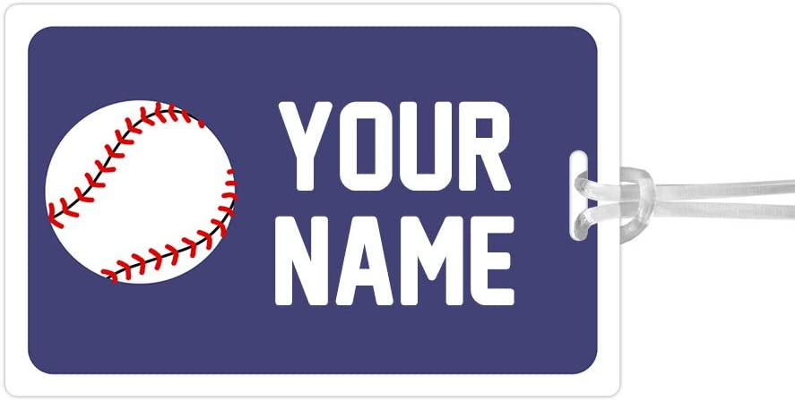 Kids Labels Waterproof, Durable Personalized Large Tag Baseball Design