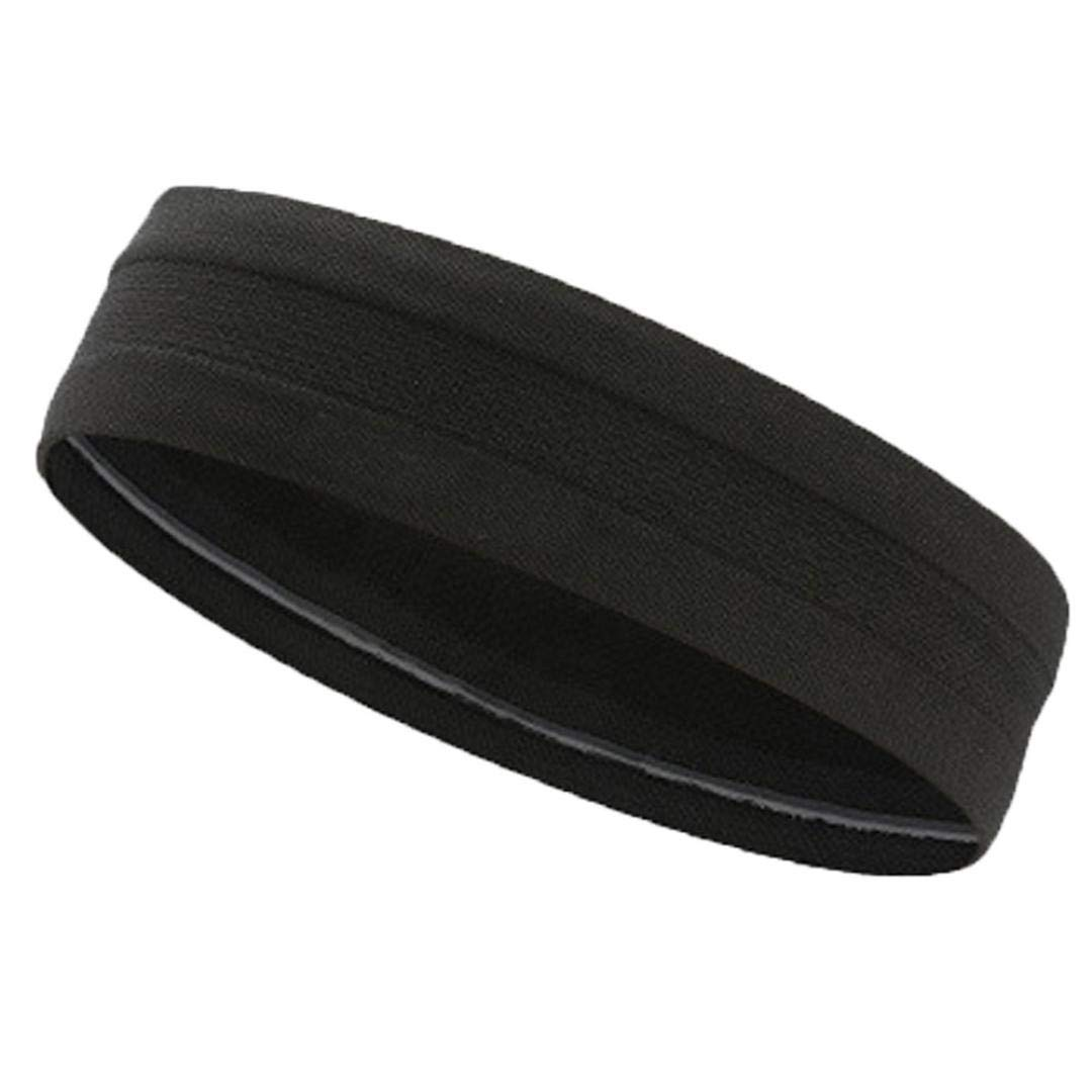 Sport Yoga Headband Elastic Stretch Sweat Sweatband Wristband Turban Gym Hair Head Band for Men and Woman Moisture Wicking Hair Accessories (Black)