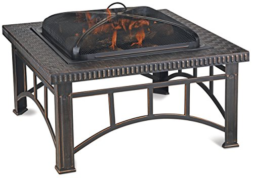 Blue Rhino Outdoor Wood Burning Fireplace Brushed Copper WAD15143MT