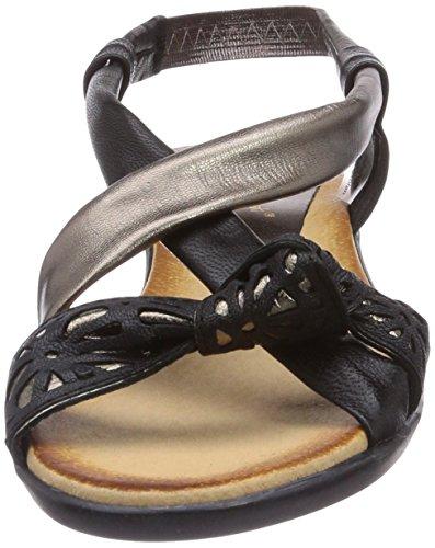 Andrea Conti 0357403287 - Sandalias Mujer multicolor - Mehrfarbig (schwarz/bronze 287)