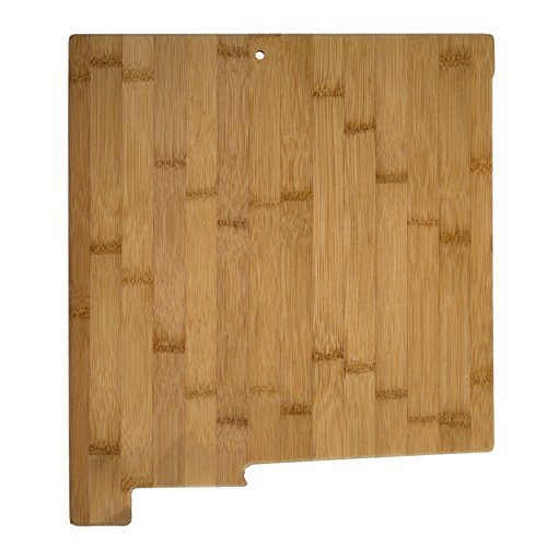 Totally Bamboo New Mexico State Shaped Bamboo Serving and Cutting Board