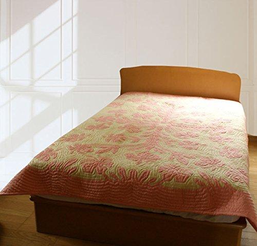 (ラナイブルー) ハワイアンキルト 本格手縫 マルチカバー ベッドカバー ベッドスプレッド Sサイズ B07F62PC1L