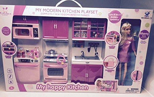 Pink Princess Full Modern Kitchen Set W 11 5 Doll Stove