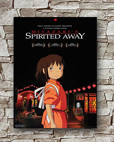 Huawuque Spirited Away Japanese Style Poster Standard Size | 18-Inches by 24-Inches |Spirited Away Posters Wall Poster Print
