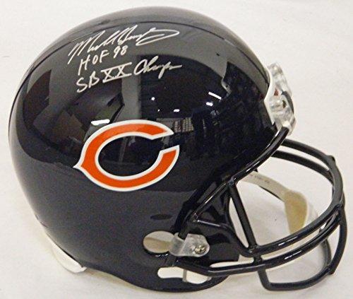 Mike Singletary Signed Chicago Bears Riddell Full-Size Replica Helmet w/HOF 98, SB XX Champs