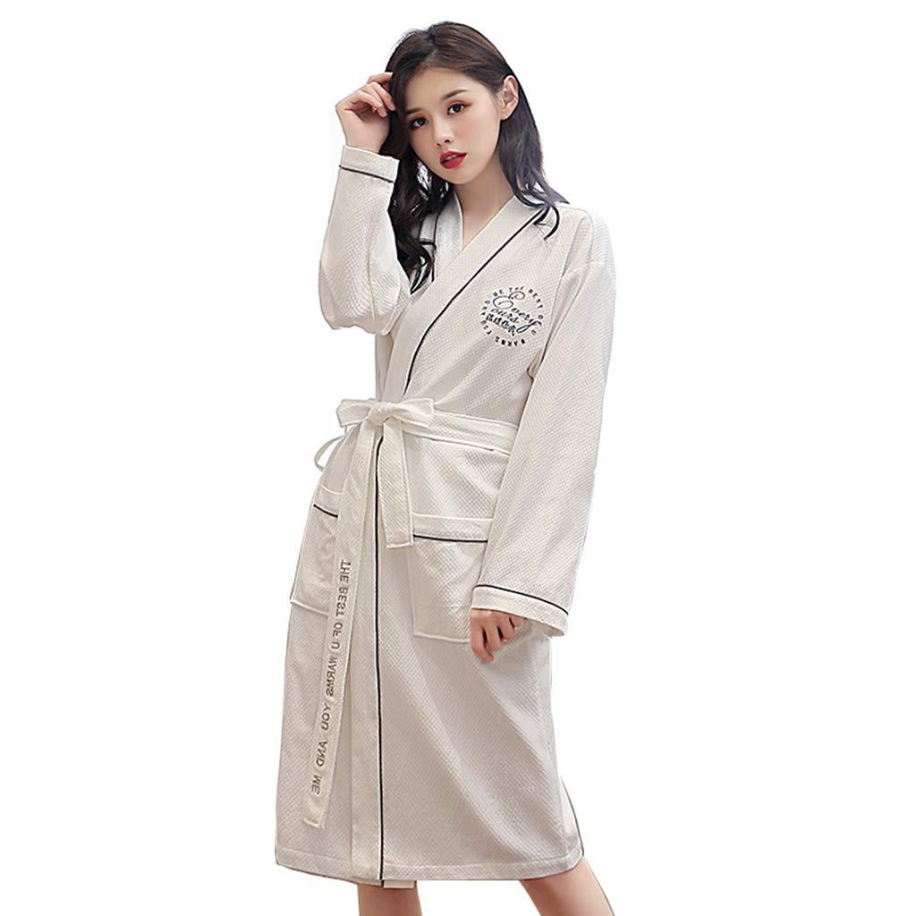 C Summer Robes, Men's and Women's Cotton Long Paragraph Robe Cotton Couple bathrobe