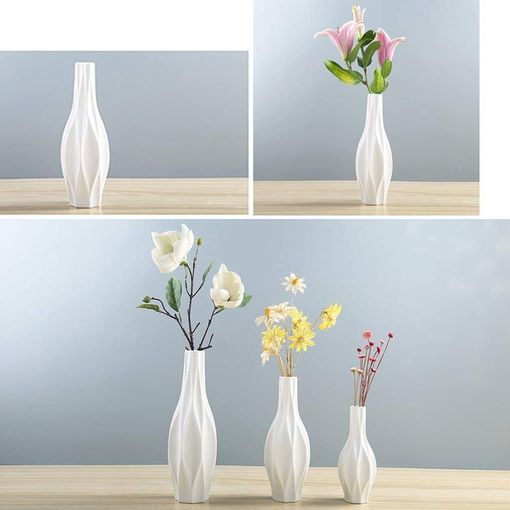 Healifty Vaso in Ceramica Moderna semplicit/à Vaso Contenitore Stile Europeo Decorazione Domestica per Hotel Ufficio casa Bianca Taglia s