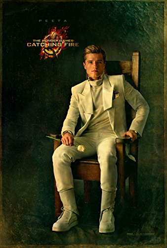 The Hunger Games 2 : Catching Fire (2013) - Peeta Chair - 13 in x 19 in Movie Poster Flyer BORDERLESS + Free 1 Tile Magnet