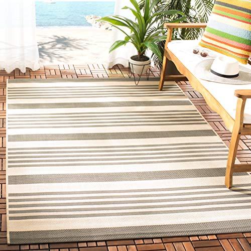 Safavieh Courtyard Collection CY6062-236 Grey and Bone Indoor/ Outdoor Area Rug (8' x 11') ()