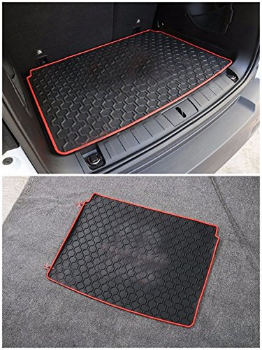 FMtoppeak Red 3D Carpet Rubber Leather Floor Cargo Trunk Liner Tray Mat Pad For 2014 UP Jeep Renegade