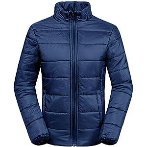 Wantdo Women's 3-In-1 Waterproof Ski Jacket Windproof Puff Liner Winter Coat Navy US X-Large