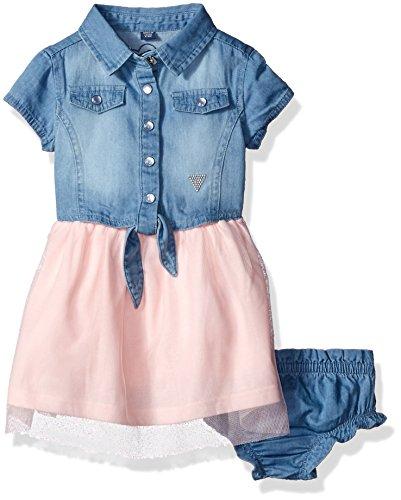guess-girls-denim-and-glitter-tulle-dress-neutral-pink-3-6-months