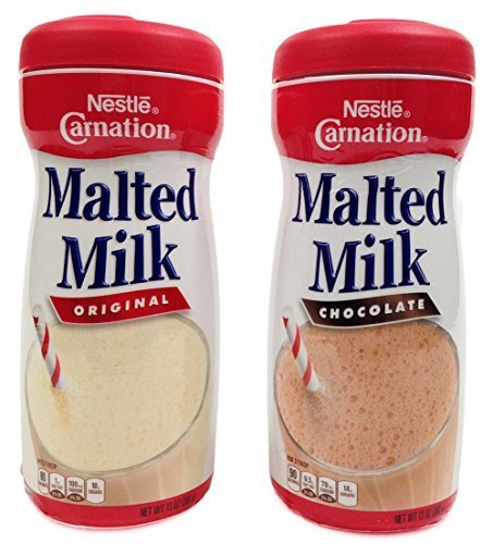 - Nestle Carnation Malted Milk Powder, Chocolate and Orginal Flavor Bundle, 13 Oz Containers (2 Items) by Carnation